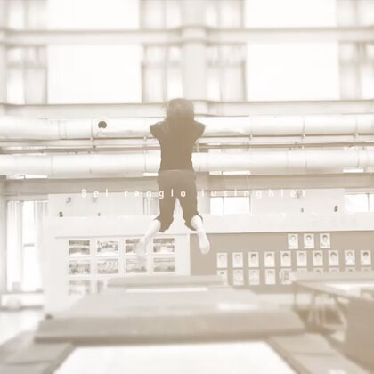 跳蹦床也能挺唯美的😁