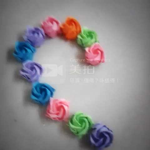 折纸玫瑰花简单又漂亮