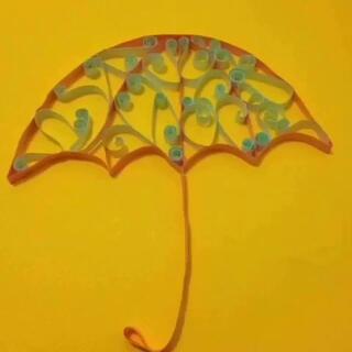 《衍纸·伞》