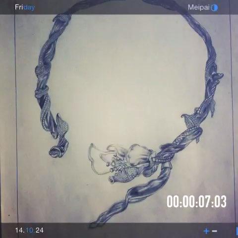 珠宝手绘#ttf玉兰花开(600款还要画多久)