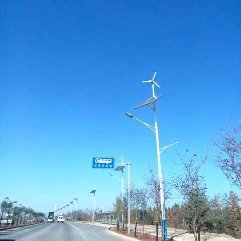风力发电路灯