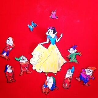 白雪公主和七个小矮人#创意#