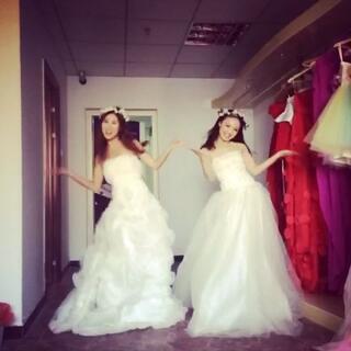 穿着婚纱#扭羊歌#