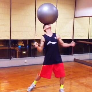 健身球照样玩<span class=