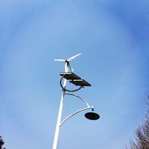 利用风能和太阳能发电的路灯