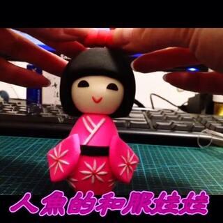 和服娃娃装饰摆件