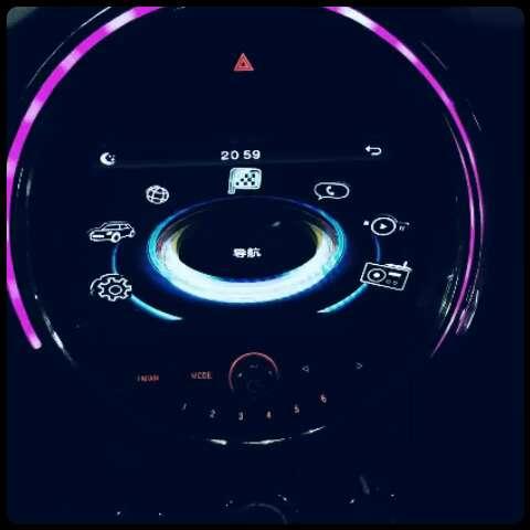 mini(宝马迷你)f56导航一体机装车效果图,喜欢吗?喜欢