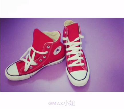 一字鞋带系法1.图片