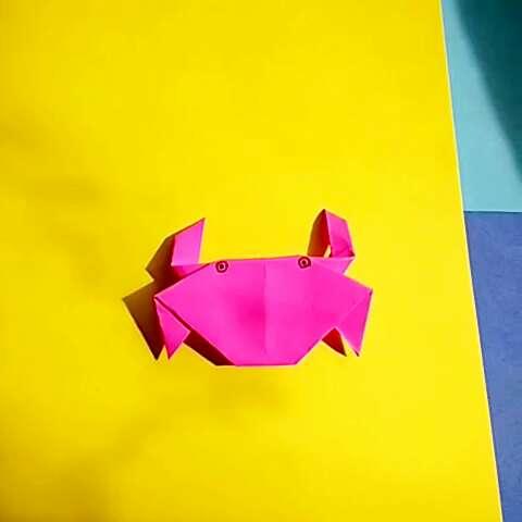 折纸##螃蟹# - 小脚丫倍儿的美拍