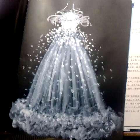 礼服##手绘服装设计##水粉服装设计#求赞~~~~到底