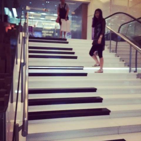 有音乐的钢琴楼梯#重庆