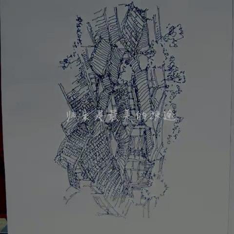 手绘灯具侧面图