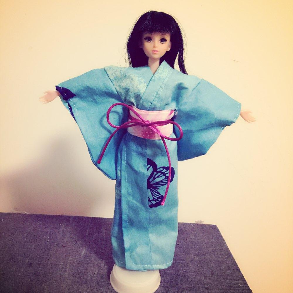 第一次亲手制作的和服92#手工diy##和服##芭比娃娃