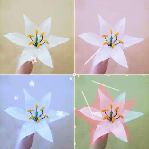 八个花瓣手工百合花的折法图解