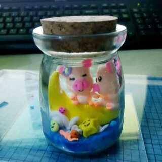 瓶中的猪猪情侣