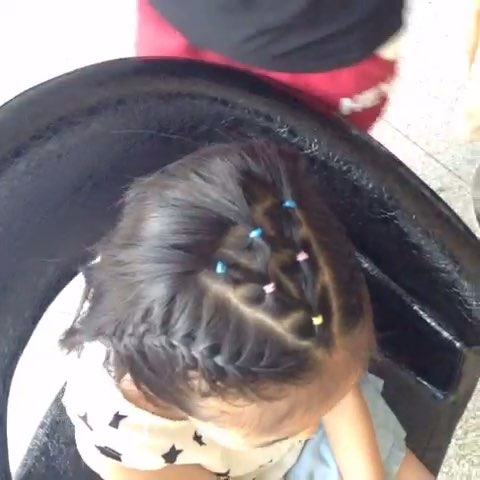 时尚儿童编发#短发也可以很漂亮