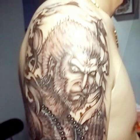 纹身刺青#原创~成佛的图片