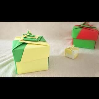 礼品盒折出来~用这样一个盒子送礼物是不是特别有心意呢?做法并不难~赶紧get√起来~#涨姿势##手工diy##折纸#
