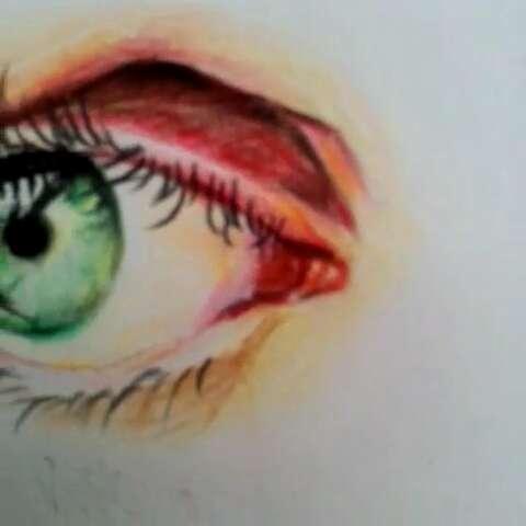 喜欢#我要上热门#画画的关注我吧#手绘彩铅画