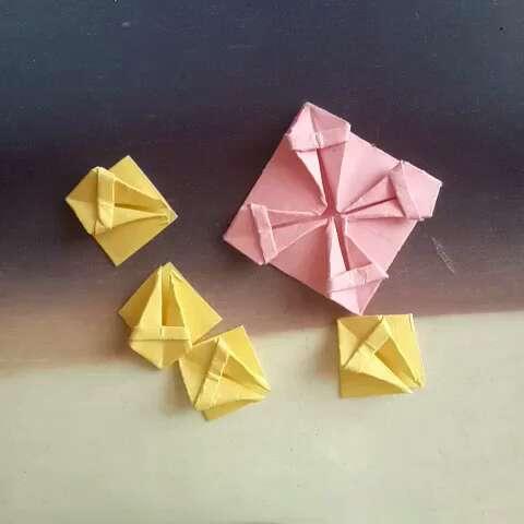折纸##手工折纸##折纸教程#创意小花篮③( 6106