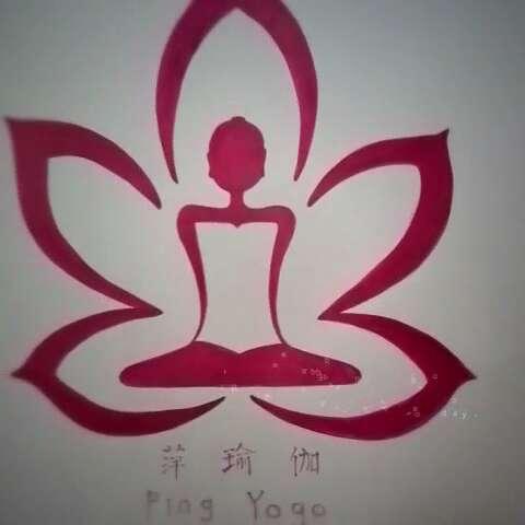 手绘墙 瑜伽logo#60秒美拍