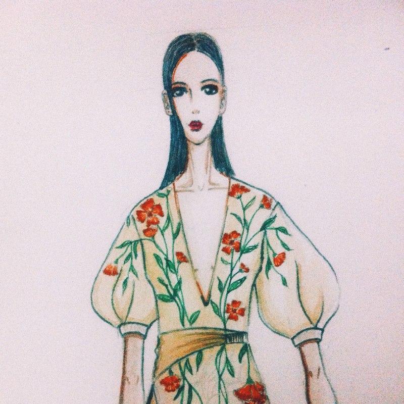马克笔手绘##服装设计