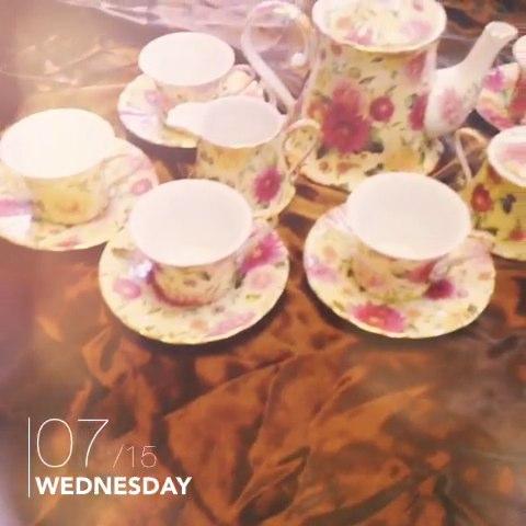 欧式陶瓷新品 茶具田园风