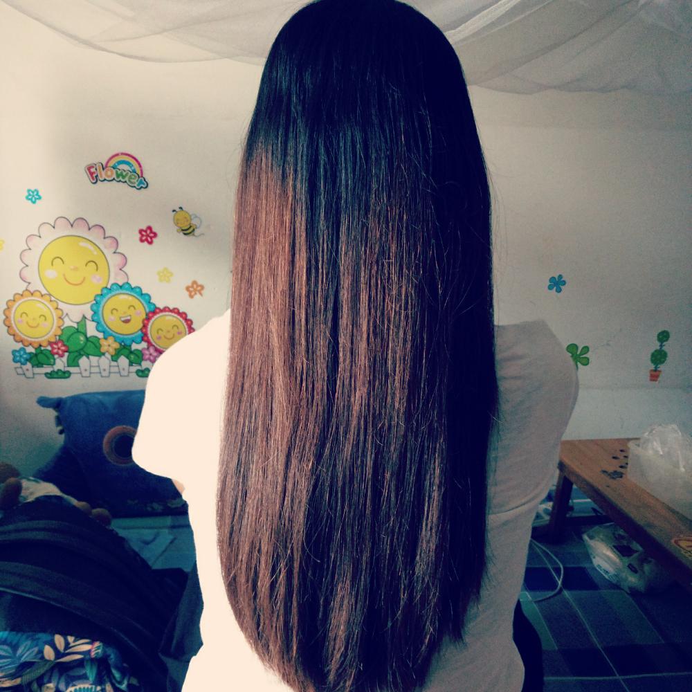 自己头发有多长图片图片