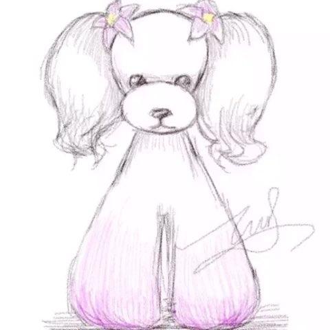 宠物泰迪##泰迪造型##手绘图#泰迪手绘造型图片