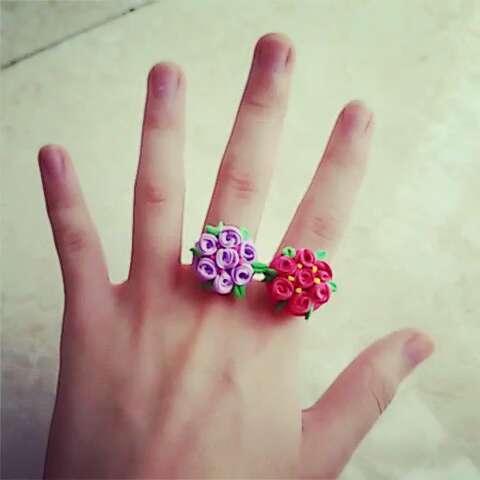 粘土做的戒指,有没有美美哒!