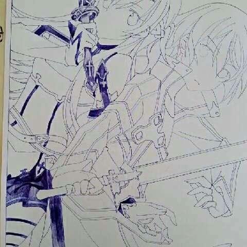 画画##漫画##临摹##手绘漫画##画漫画##二次元绘画#第一次用圆珠笔画