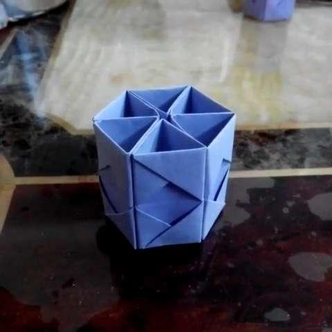 折纸盒子折纸笔筒