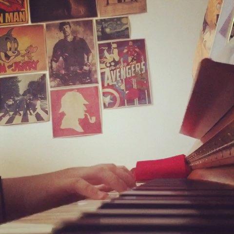 钢琴#一直很安静 - 蛋蛋迪加的美拍