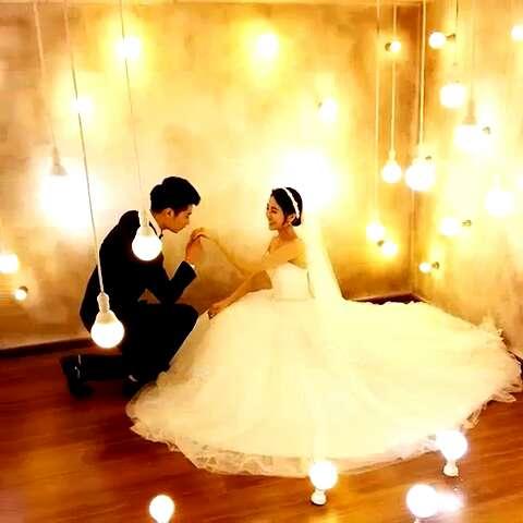 """婚纱照拍完啦!今天真的被你们姐夫帅哭了,拍照不停的"""""""
