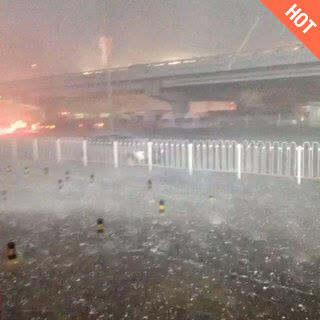 北京这鹅蛋大冰雹!