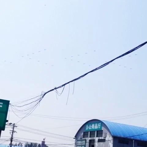 阅兵直升飞机队列