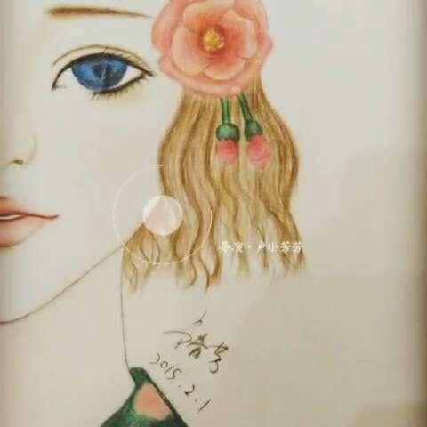 唯美风手绘画#彩铅画,喜欢的点赞吧!