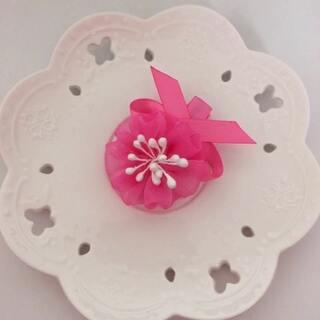 雪纺粉嫩花朵发夹