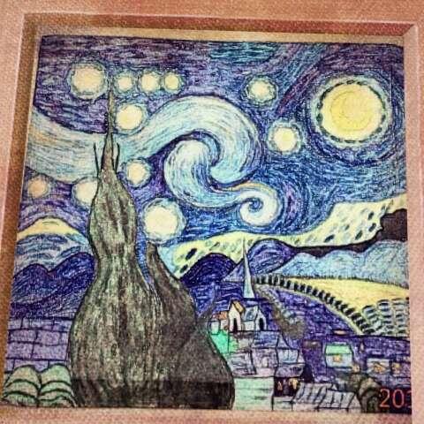 手绘水彩画#《星空》不管多么难过的时候,只要你抬头