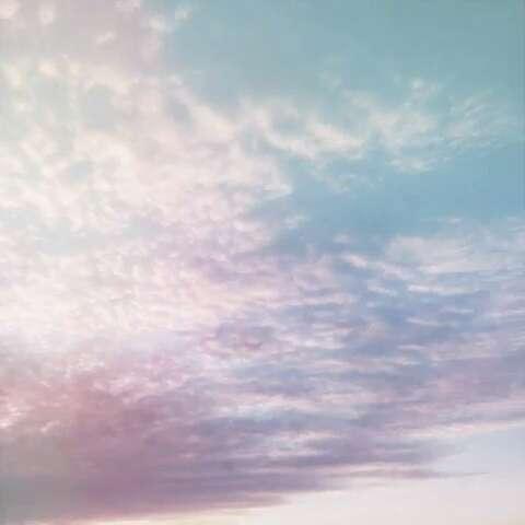 男女仰望天空背影
