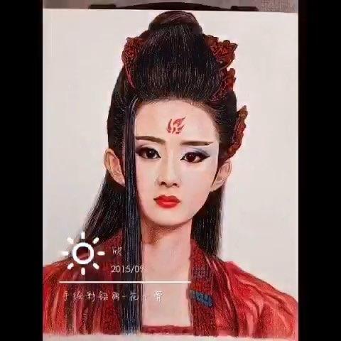 #手绘彩铅画##彩铅画##赵丽颖