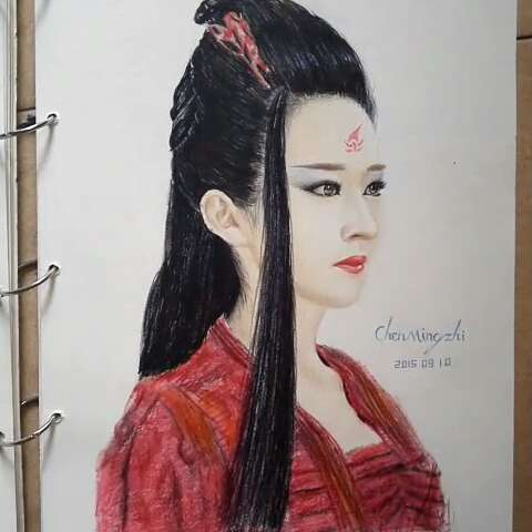 手绘画杨颖