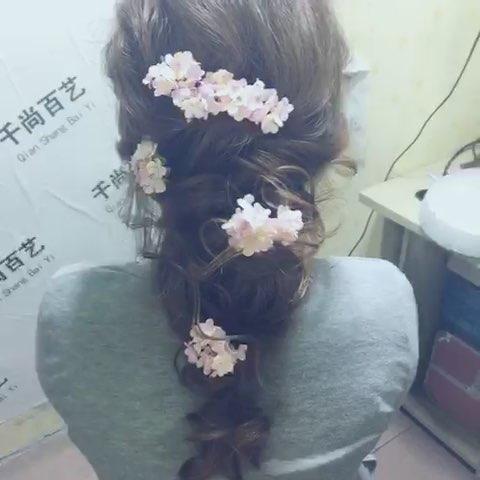新娘发型#鲜花新娘造型