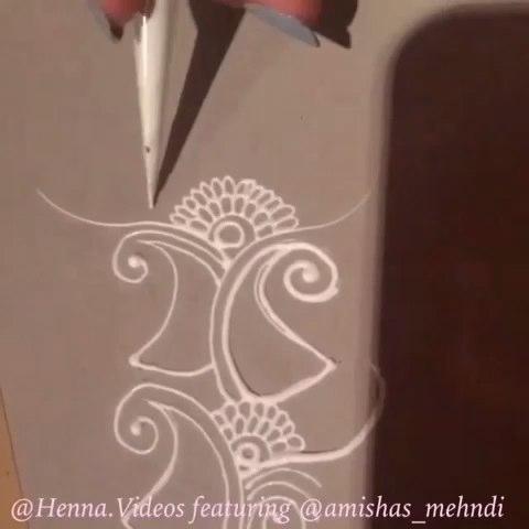 印度海娜手绘##henna##曼海蒂##时尚美妆#白色海娜