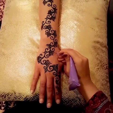 印度海娜手绘##曼海蒂##手绘曼海蒂##时尚曼海蒂