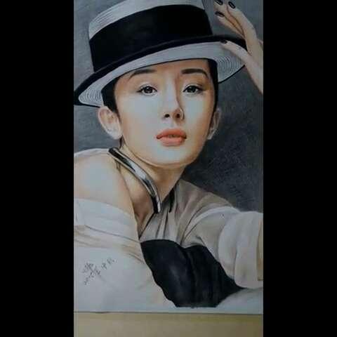 我要上热门彩色铅笔画##女神杨幂#喜欢#画画#的请