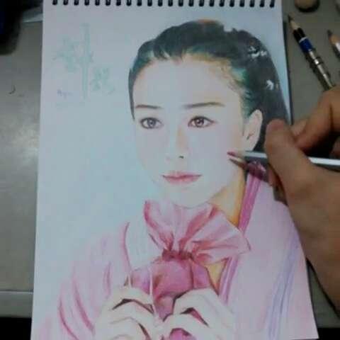杨颖手绘图片彩铅