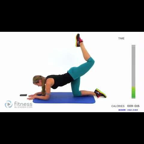 这个动作是紧致臀部拉伸大腿,小腿在做向上拉伸动作时能拉动小腿上的