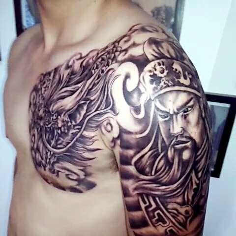 纹身##小腿纹身##黑白无常##纹身艺术##纹身图案