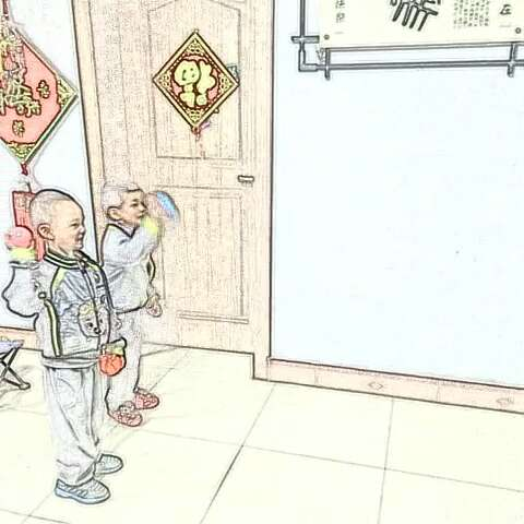 tiaoyue投篮简笔画